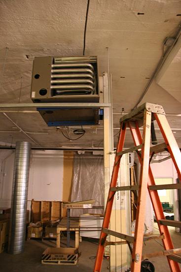 Modern heat making machine, word.