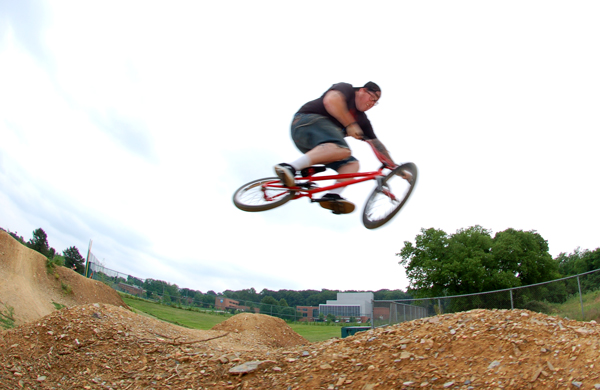 Municipal dirt jumps, more fun than driving in holiday traffic!