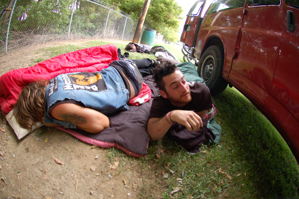 Sleeping on the ground is way more BMX than the internet!