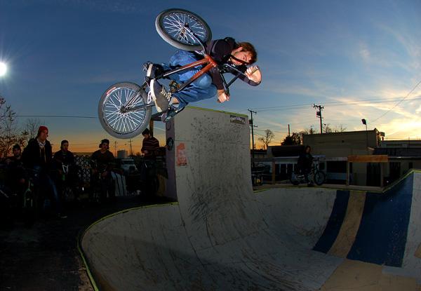 Joel Barnett at the Bike Lot last fall...