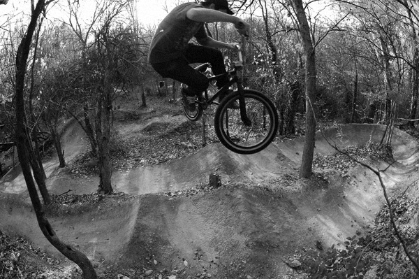 Erik Holladay at some trails in dumfries Va.