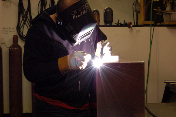 Big Dave making a fuel tank for alternative Fuel vehicles...