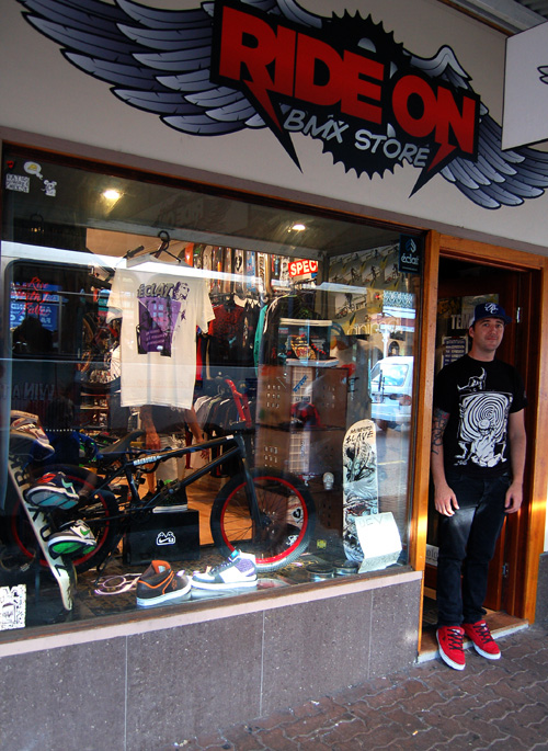 Steve from Ride on in Brisbane- marauder in the window. STOKED!