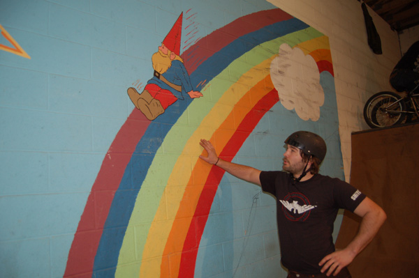 John Corts, feeling the rainbow Gnome...