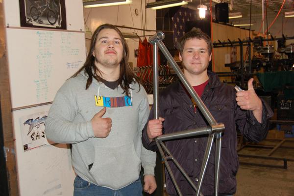 Jordan Stewart and Dacien, visiting from Ohio.