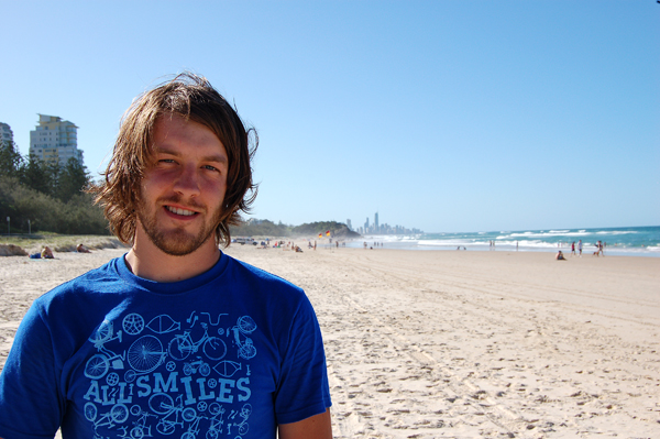 Kenny Horton in surfers paradise ( thats the name of the city)