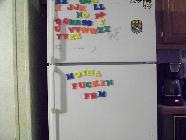 Memmy's fridge!