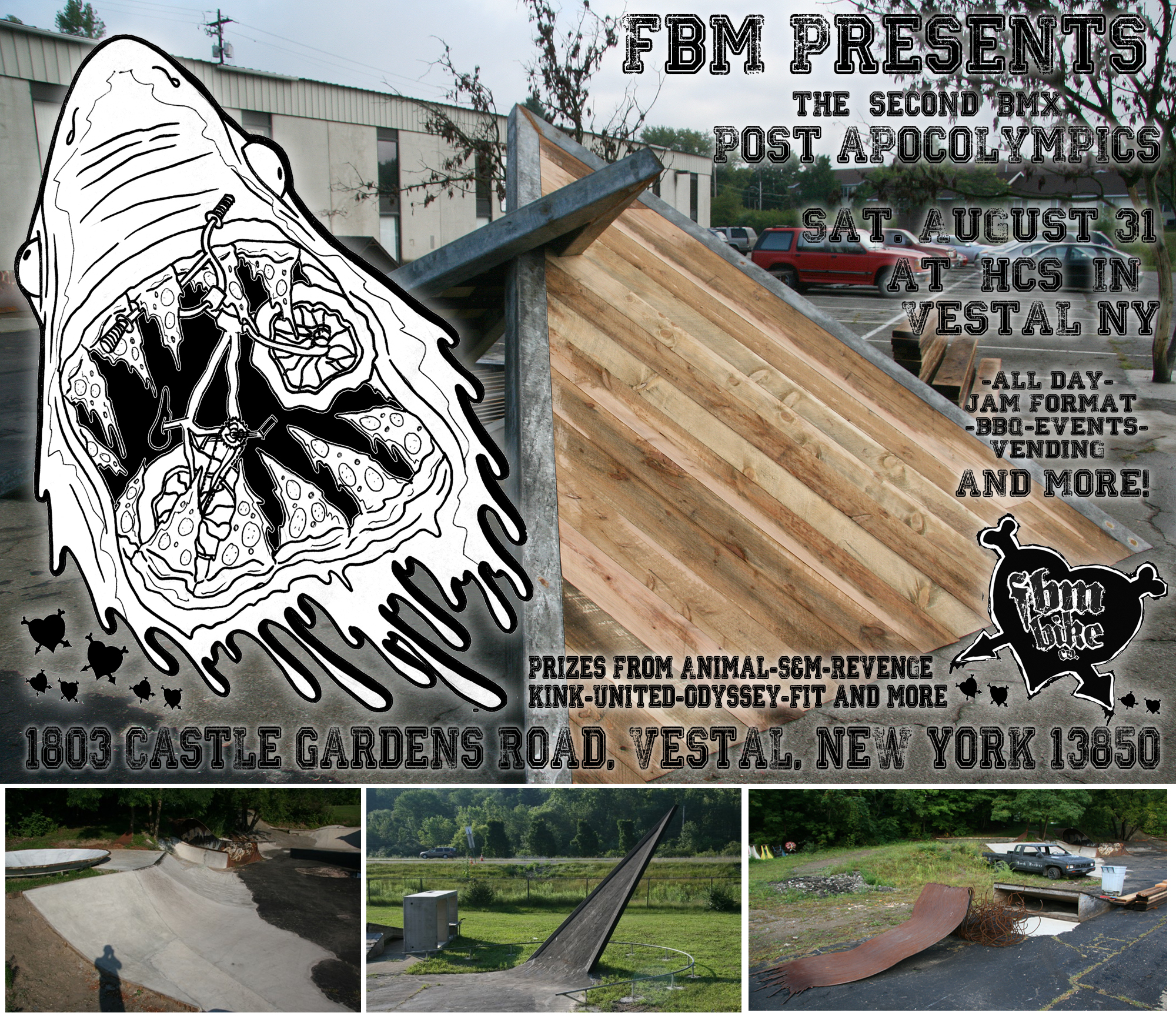 This Saturday At HCS, FBM Is Hosting A Jam At 1803 Castle Gardens Road,  Vestal, New York 13850, Where Derek Nelson Has Crafted Some Of The Wildest  Ramps ...