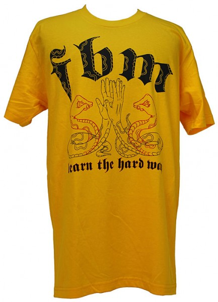 fbm-learn-the-hardway-t-shirt-gold