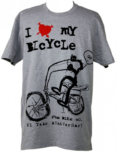 fbm I love my bicycle shirt 21st anni