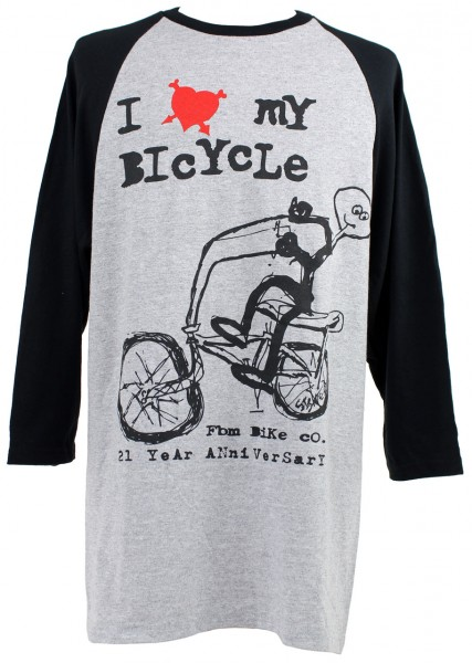 fbm i love my bike 3-4 sleeve shirt