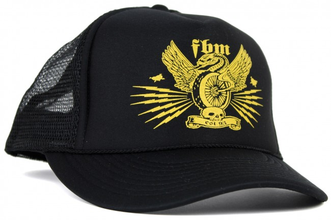 fbm snake wheel mesh trucker hat
