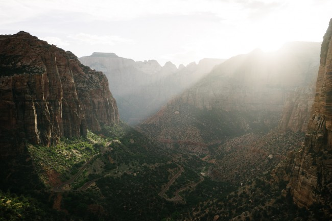 #lightbro on the Zion switchbacks