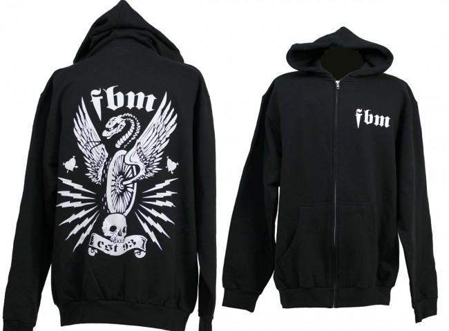 fbm snake wheel zip up hoodie back