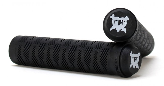 fbm-double-fister-grips-flangeless-black-crossed
