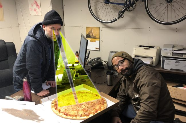 Bicycle pizza lasers!