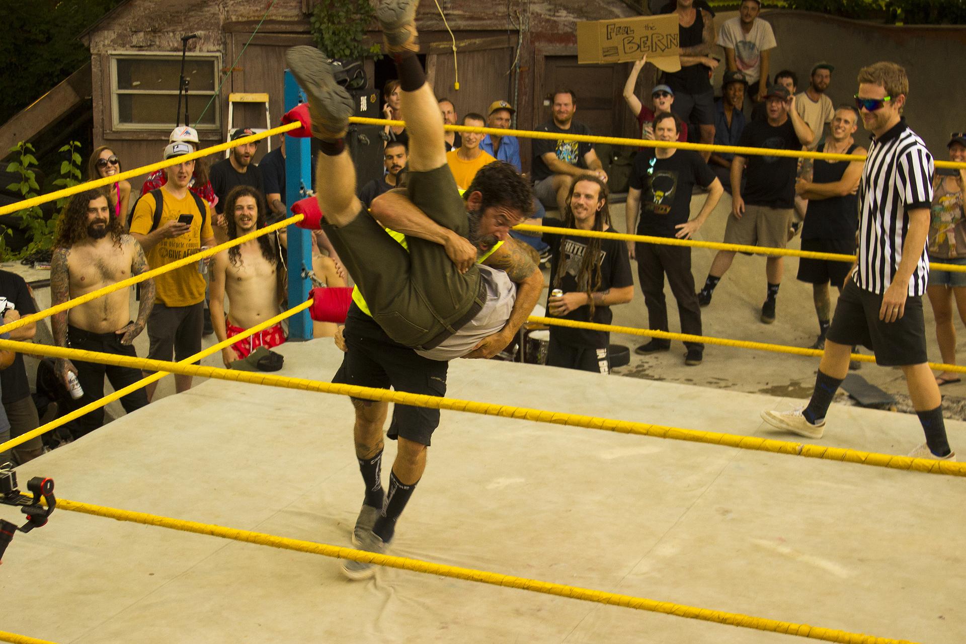 BackYard Wrestling! - InterBMX - New York - Local BMX Scenes